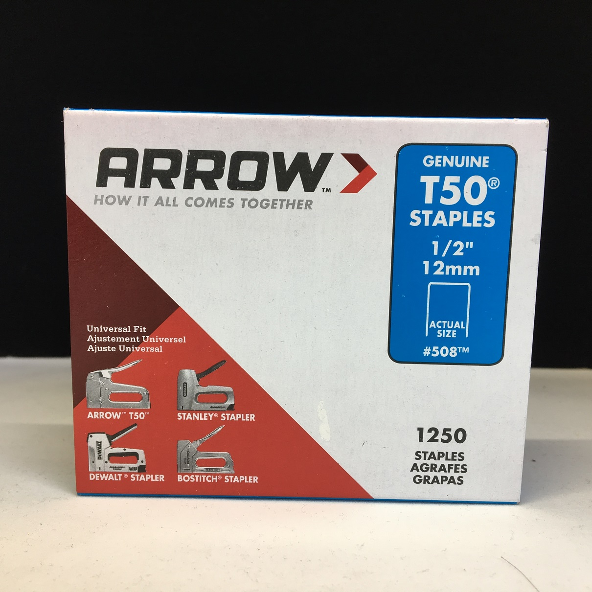 "1//4/"" NEW ARROW T50 STAPLES PACK OF 1250 GENUINE ARROW 6mm"